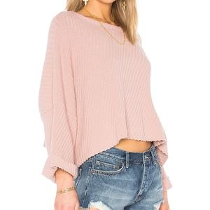 Free People Women's Rose I Can't Wait Sweater NEW